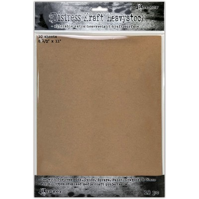 Distress 8.5X11 Heavystock, Kraft (10 Pack)