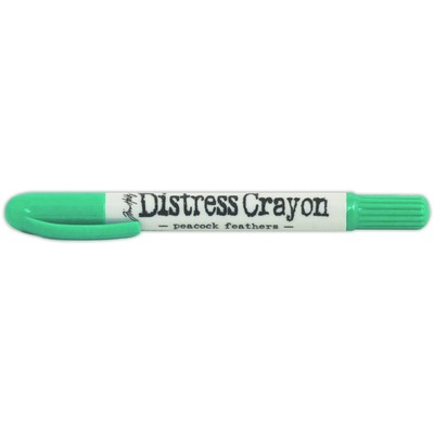 Distress Crayon, Peacock Feathers