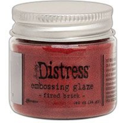 Distress Embossing Glaze, Fired Brick