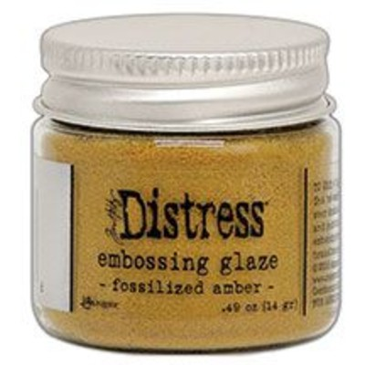 Distress Embossing Glaze, Fossilized Amber