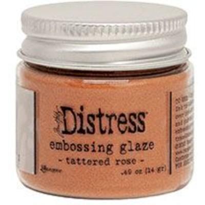 Distress Embossing Glaze, Tattered Rose