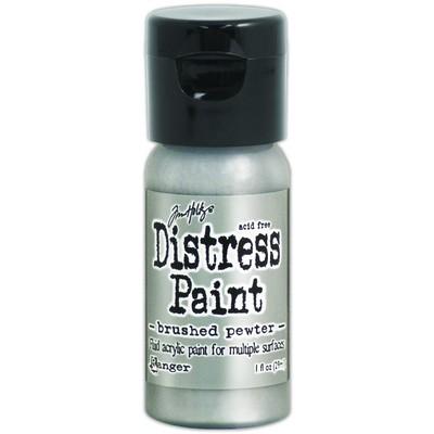 Distress Flip Top Paint, Brushed Pewter (1 oz.)