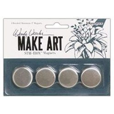 """Make Art Stay-tion, 1"""" Magnets (4pc)"""