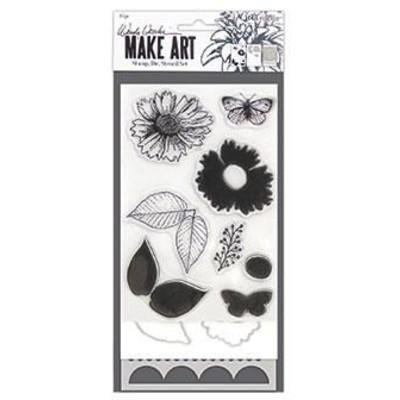 Make Art Stamp/Die/Stencil Set, Country Flowers