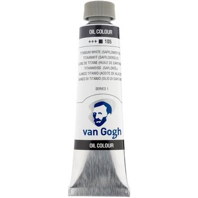 Van Gogh Oil Color Tube, 105 Titanium White (40ml)