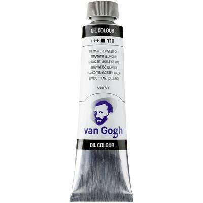 Van Gogh Oil Color Tube, 118 Titanium White Linseed (40ml)