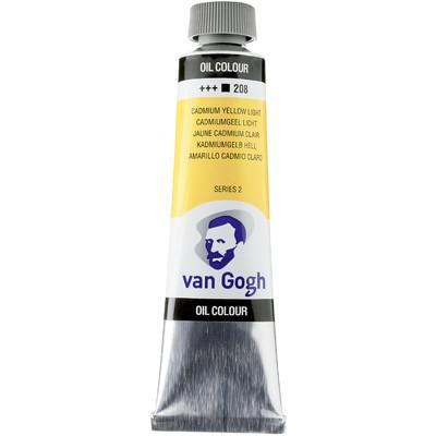 Van Gogh Oil Color Tube, 208 Cadmium Yellow Light (40ml)