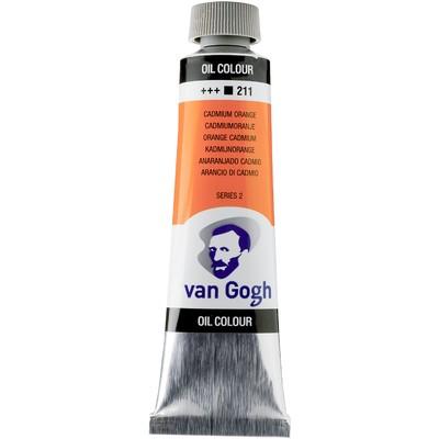 Van Gogh Oil Color Tube, 211 Cadmium Orange (40ml)