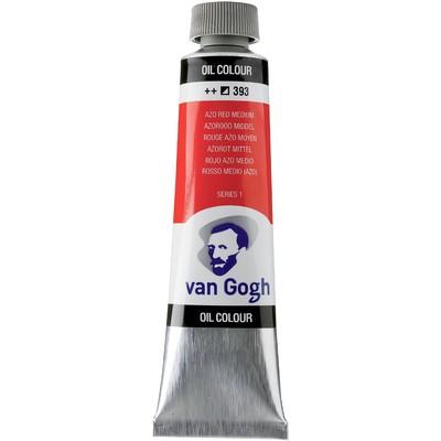 Van Gogh Oil Color Tube, 393 Azo Red Medium (40ml)