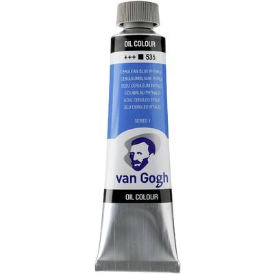 Van Gogh Oil Color Tube, 535 Cerulean Blue Phthalo (40ml)