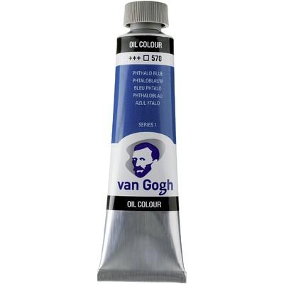 Van Gogh Oil Color Tube, 570 Phthalo Blue (40ml)