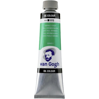 Van Gogh Oil Color Tube, 615 Emerald Green (40ml)