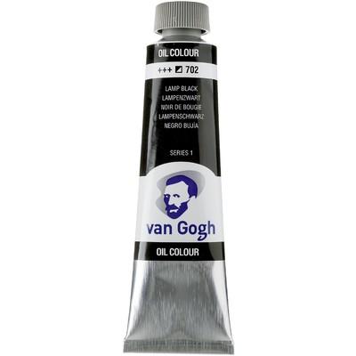 Van Gogh Oil Color Tube, 702 Lamp Black (40ml)
