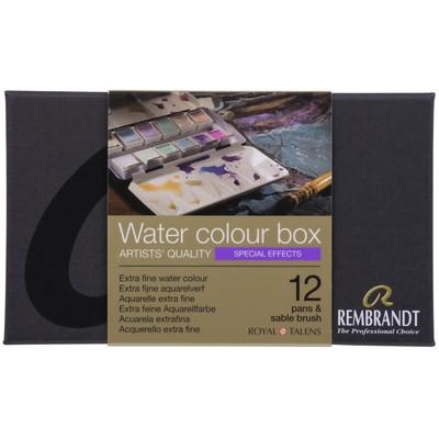 Rembrandt Prof. Watercolor Metal Tin Set, Specialty 12 Pan