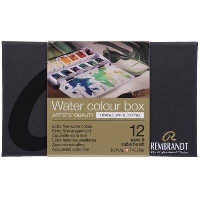 Rembrandt Prof. Watercolor Metal Tin Set, Opaque White 12 Pan