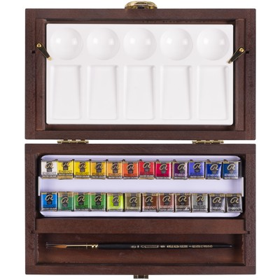 Rembrandt Prof. Watercolor Traditional Box Set, 22 Pans