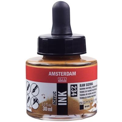 Amsterdam Acrylic Ink, Raw Sienna (30ml)