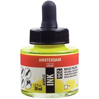 Amsterdam Acrylic Ink, Reflex Yellow (30ml)