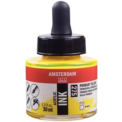 Amsterdam Acrylic Ink, Primary Yellow (30ml)