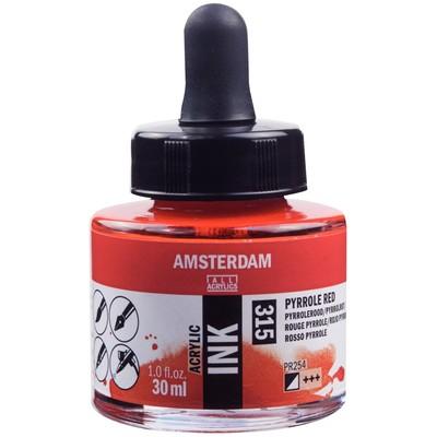 Amsterdam Acrylic Ink, Pyrrole Red (30ml)