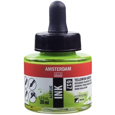 Amsterdam Acrylic Ink, Yellowish Green (30ml)