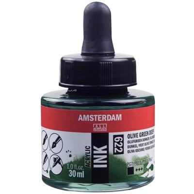 Amsterdam Acrylic Ink, Olive Green Deep (30ml)