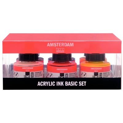 Amsterdam Acrylic Ink Set, Basic (6pk)