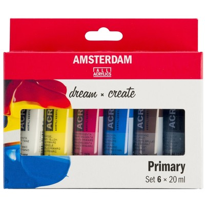 Amsterdam Standard Series Acrylic Set, Primary (6pk)