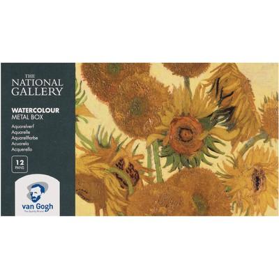 Van Gogh Watercolor Pocket Box, National Gallery (12 Pan)