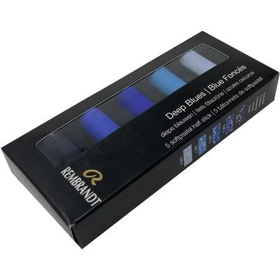 Rembrandt Soft Pastel Micro Set, Deep Blues (5pc)