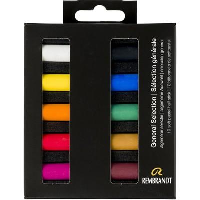 Rembrandt Soft Pastel Micro Set, General Selection (10pc)