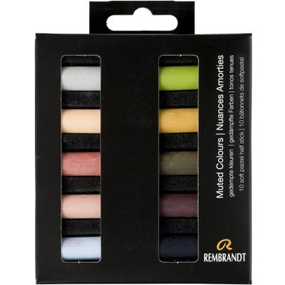Rembrandt Soft Pastel Micro Set, Muted Colours (10pc)