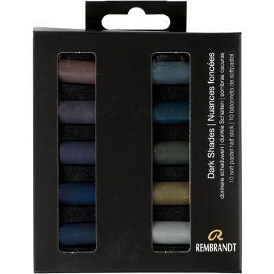 Rembrandt Soft Pastel Micro Set, Dark Shades (10pc)