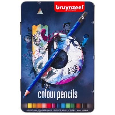 Bruynzeel Color Pencils Tin Set, Blue (12pc)