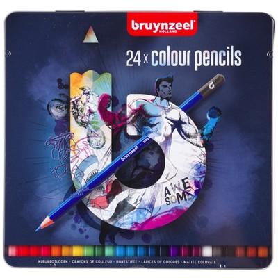 Bruynzeel Color Pencils Tin Set, Blue (24pc)