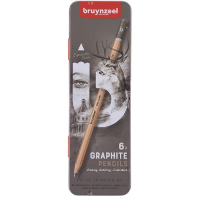 Bruynzeel Expression Graphite Pencils Tin Set (6pc)