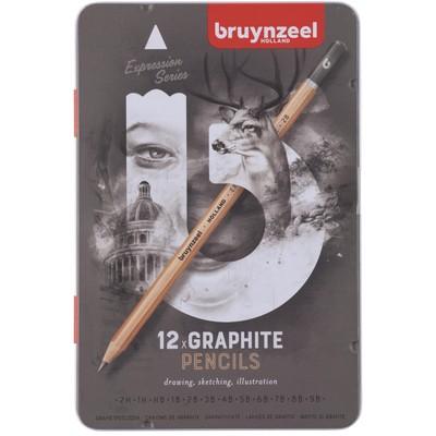 Bruynzeel Expression Graphite Pencils Tin Set (12pc)