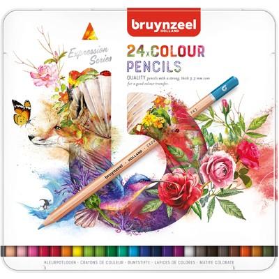 Bruynzeel Expression Color Pencils Tin Set (24pc)