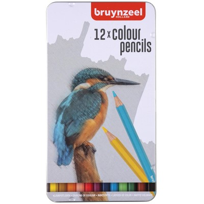Bruynzeel Color Pencils Tin Set, Bird (12pc)