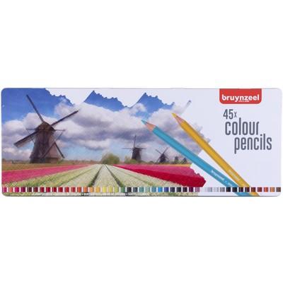Bruynzeel Color Pencils Tin Set, Holland (45pc)