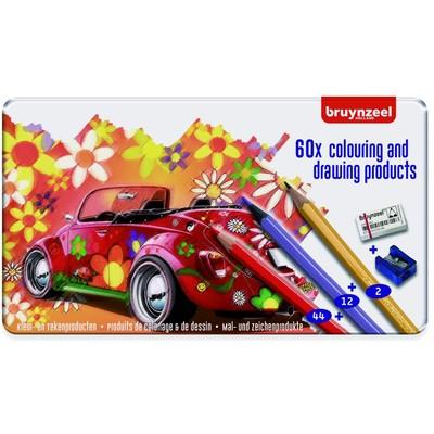 Bruynzeel Color Pencils Tin Set, Super Sixties Beetle (60pc)