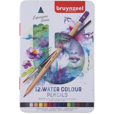 Bruynzeel Expression Watercolor Pencils Tin Set (12pc)