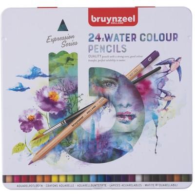 Bruynzeel Expression Watercolor Pencils Tin Set (24pc)