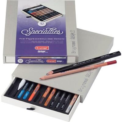 Bruynzeel Design Figurative Drawing Pencil Box (12pc)