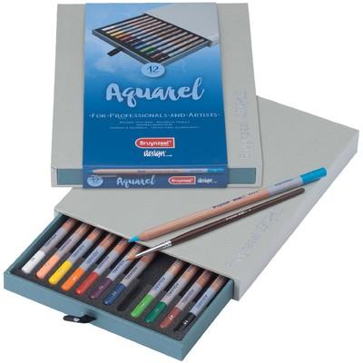 Bruynzeel Design Aquarelle Pencil Box (12pc)