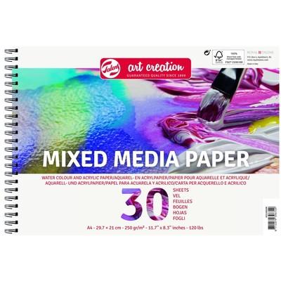 Talens Art Creation Mixed Media Sprial Pad, A4