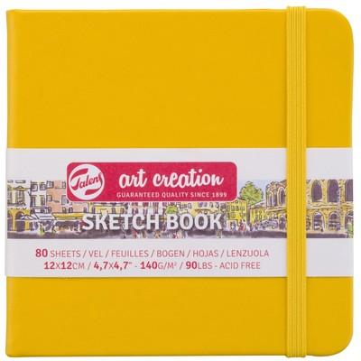 Talens Art Creation Sketchbook, Golden Yellow 12cm x 12cm