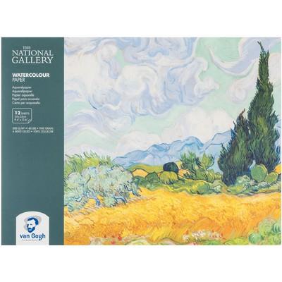 Van Gogh Watercolor Paper Block, National Gallery - 9.4X12.6