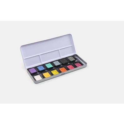 FineTec Watercolor Set, Pearlescent - Rainbow (12 Colors)