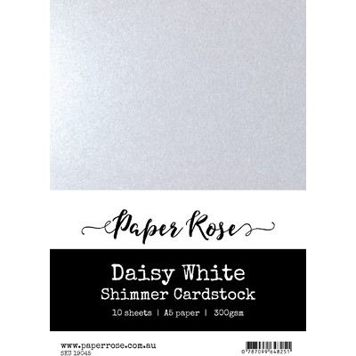 A5 Shimmer Cardstock, Daisy White (10pc)